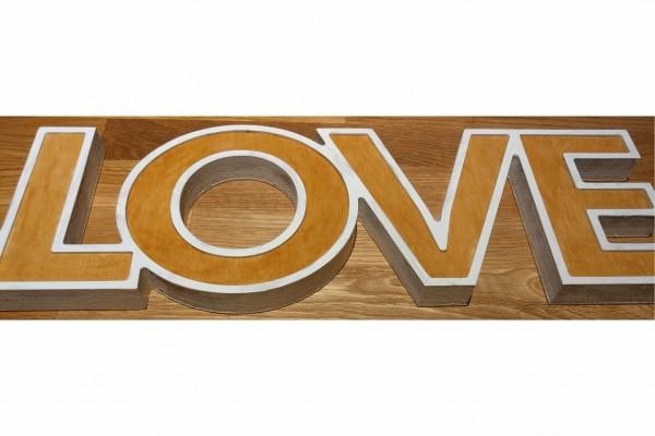 3D Buchstaben aus Holz 9mm